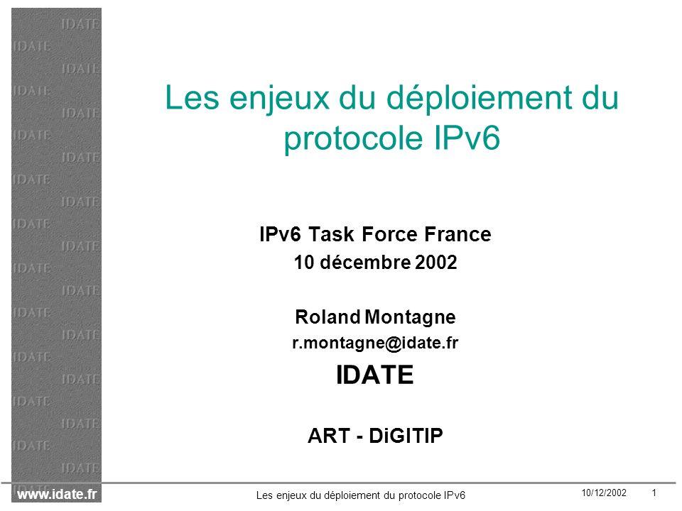 Les enjeux du déploiement du protocole IPv6