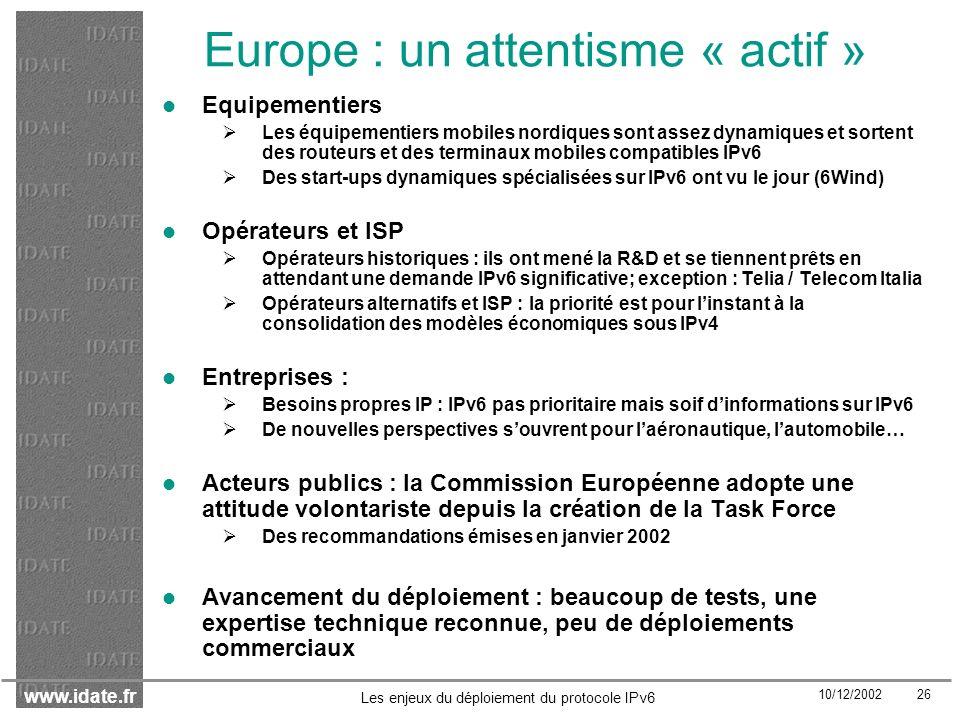 Europe : un attentisme « actif »