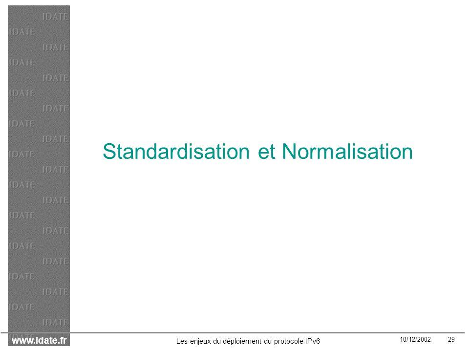 Standardisation et Normalisation