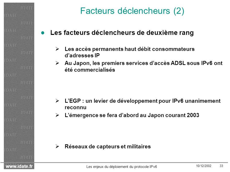 Facteurs déclencheurs (2)
