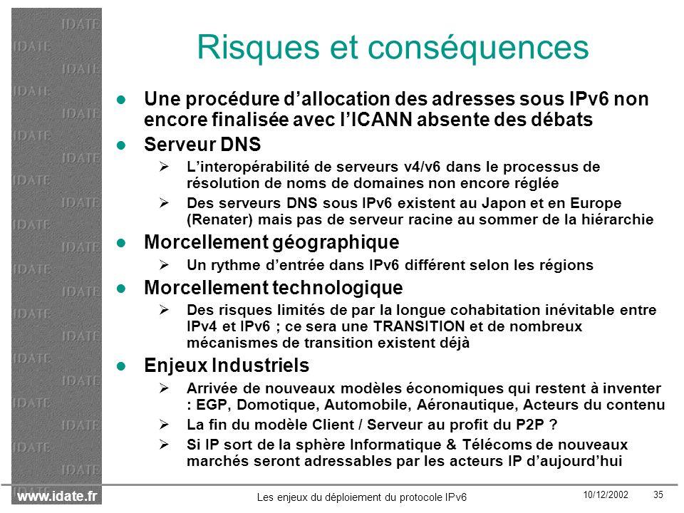 Risques et conséquences