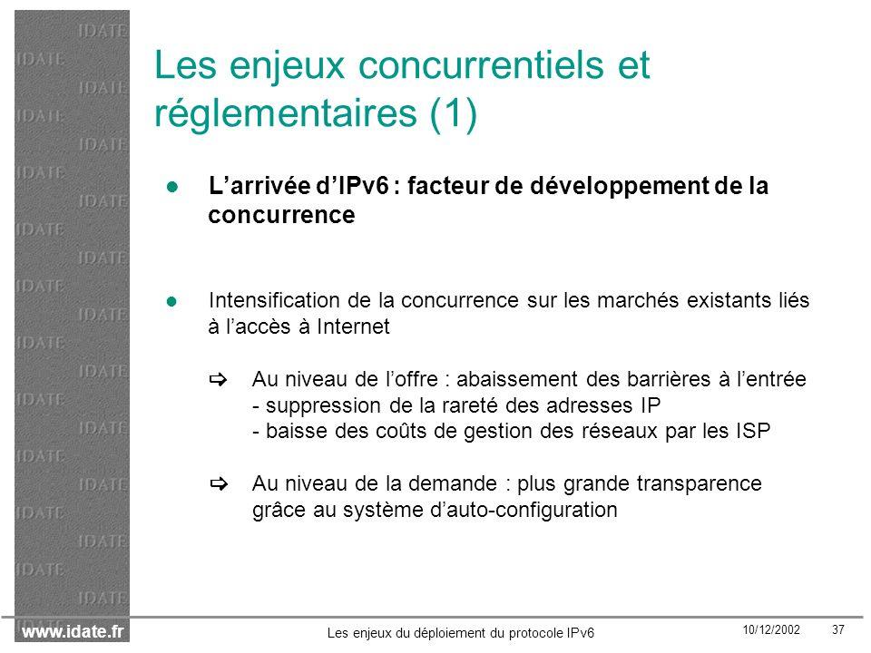 Les enjeux concurrentiels et réglementaires (1)