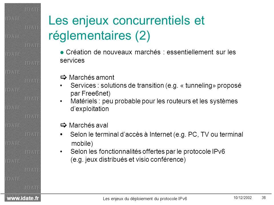 Les enjeux concurrentiels et réglementaires (2)