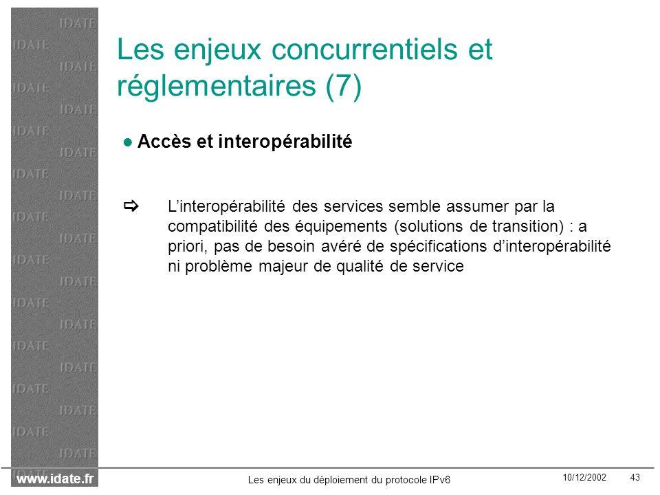 Les enjeux concurrentiels et réglementaires (7)