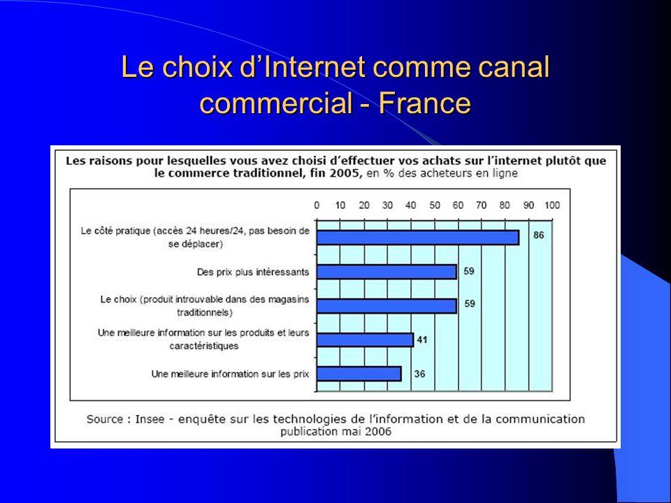 Le choix d'Internet comme canal commercial - France
