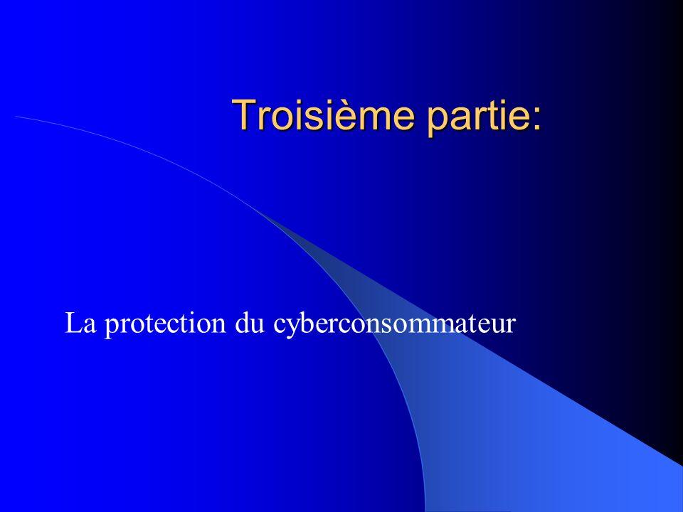 La protection du cyberconsommateur