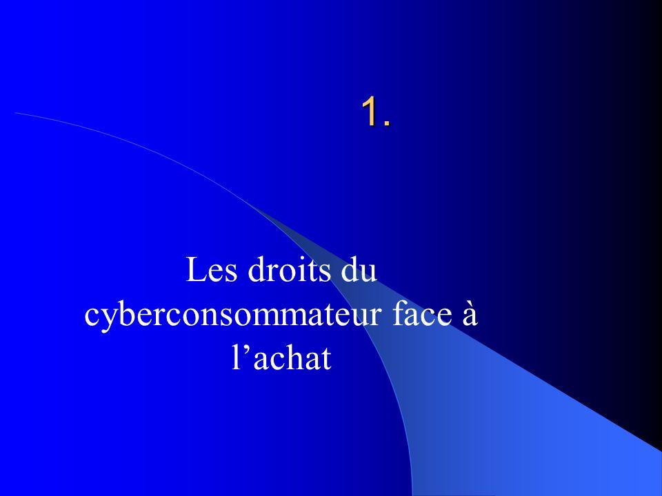 Les droits du cyberconsommateur face à l'achat