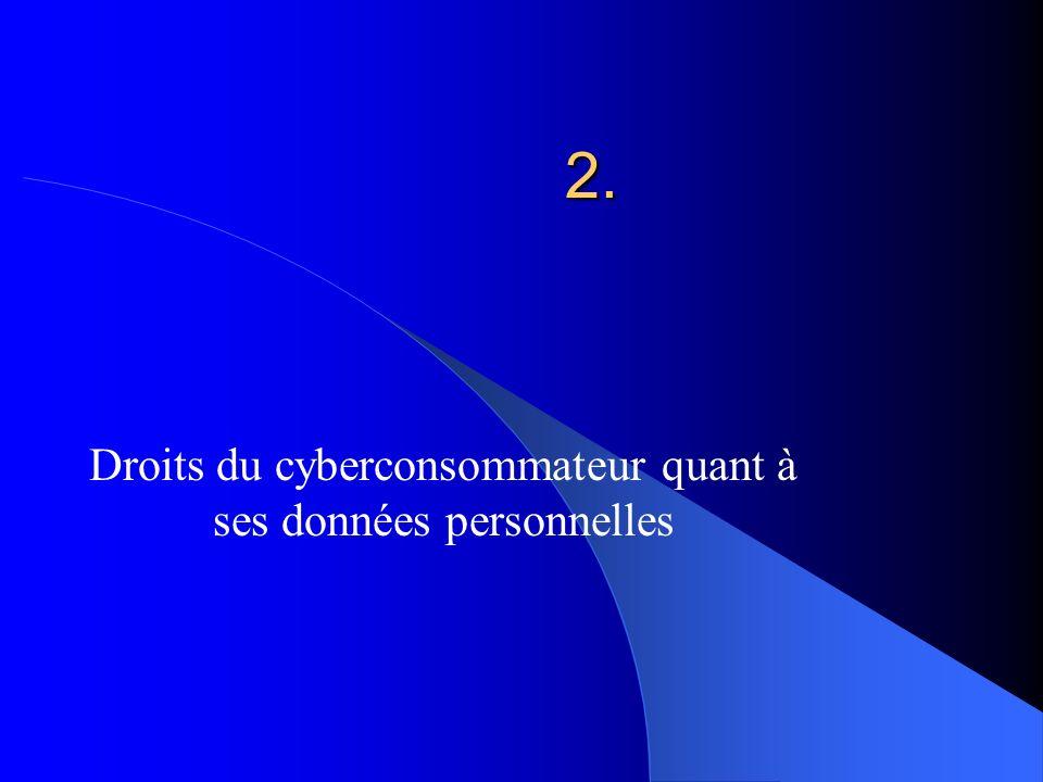 Droits du cyberconsommateur quant à ses données personnelles