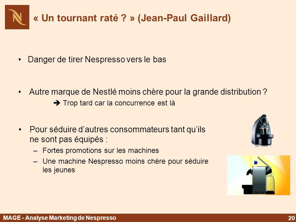« Un tournant raté » (Jean-Paul Gaillard)