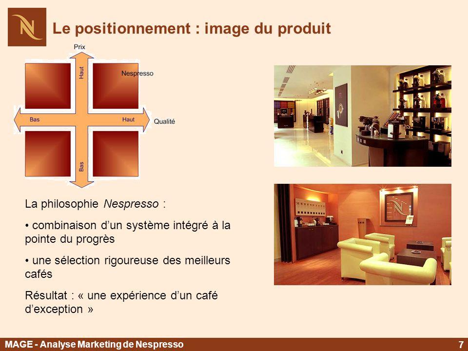 Le positionnement : image du produit