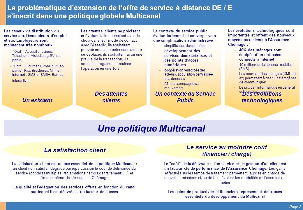 Une politique Multicanal
