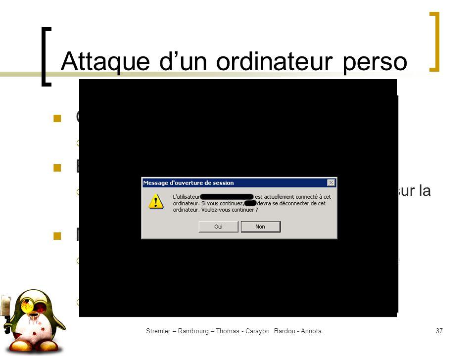 Attaque d'un ordinateur perso