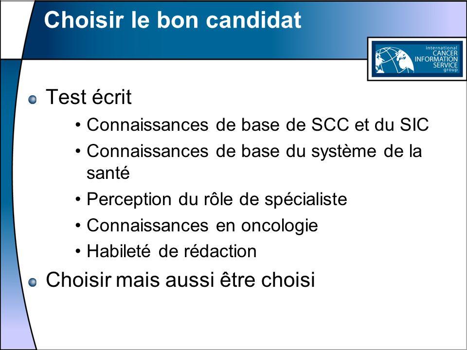Choisir le bon candidat