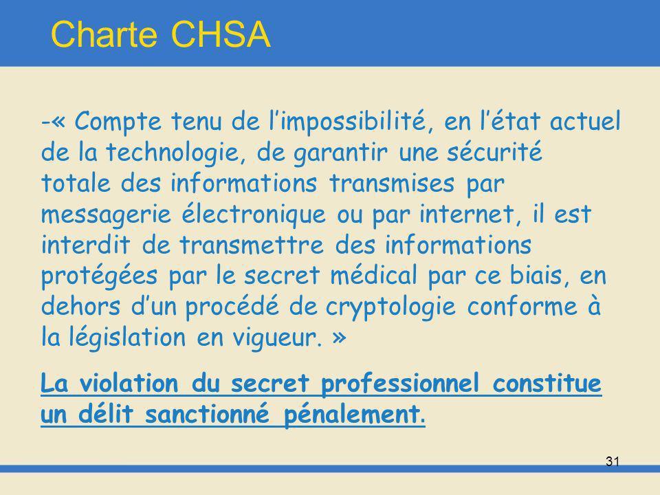 Charte CHSA