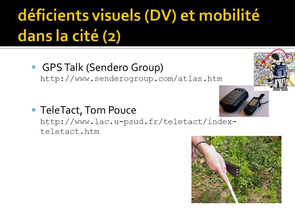 déficients visuels (DV) et mobilité dans la cité (2)