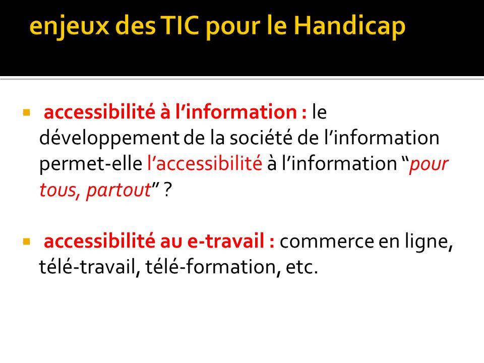 enjeux des TIC pour le Handicap