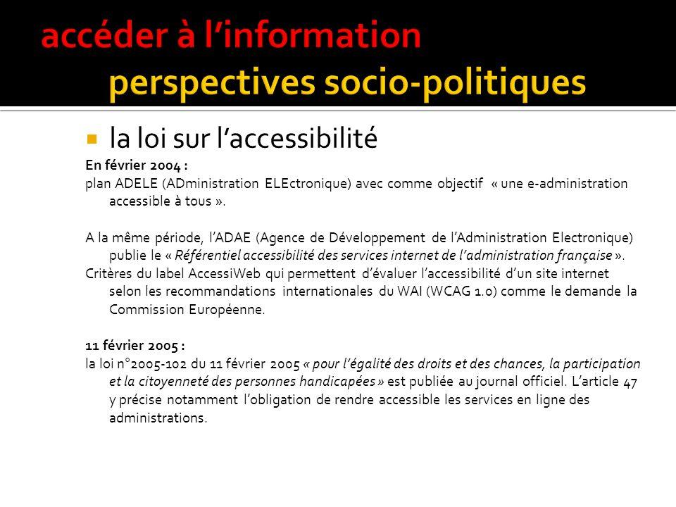 accéder à l'information perspectives socio-politiques