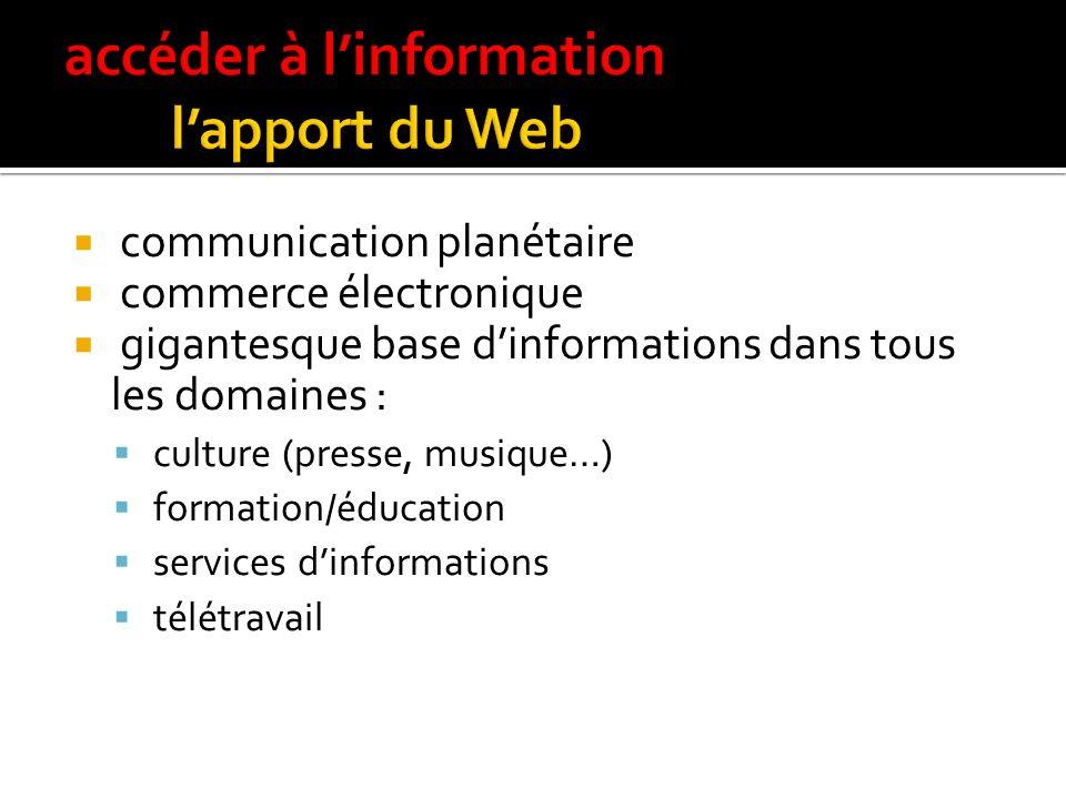 accéder à l'information l'apport du Web