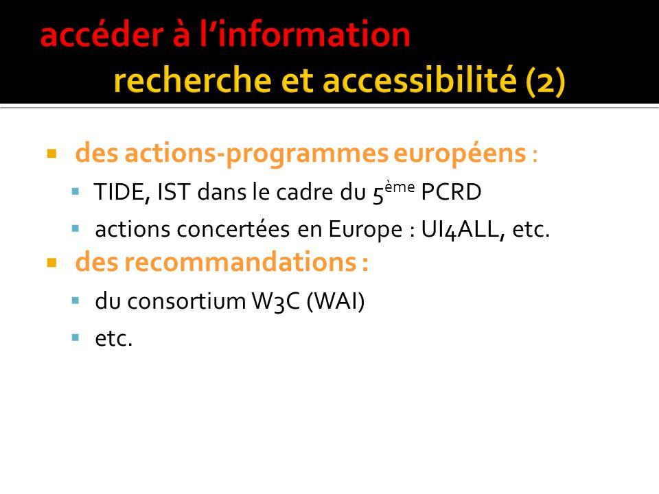accéder à l'information recherche et accessibilité (2)