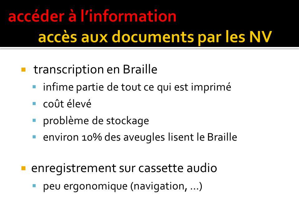 accéder à l'information accès aux documents par les NV