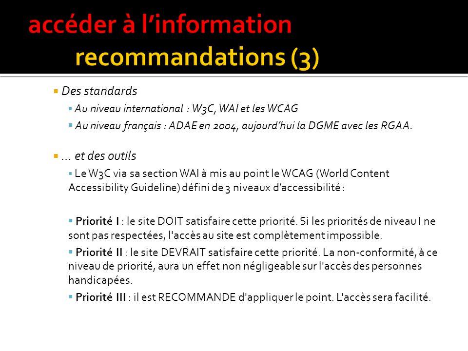 accéder à l'information recommandations (3)
