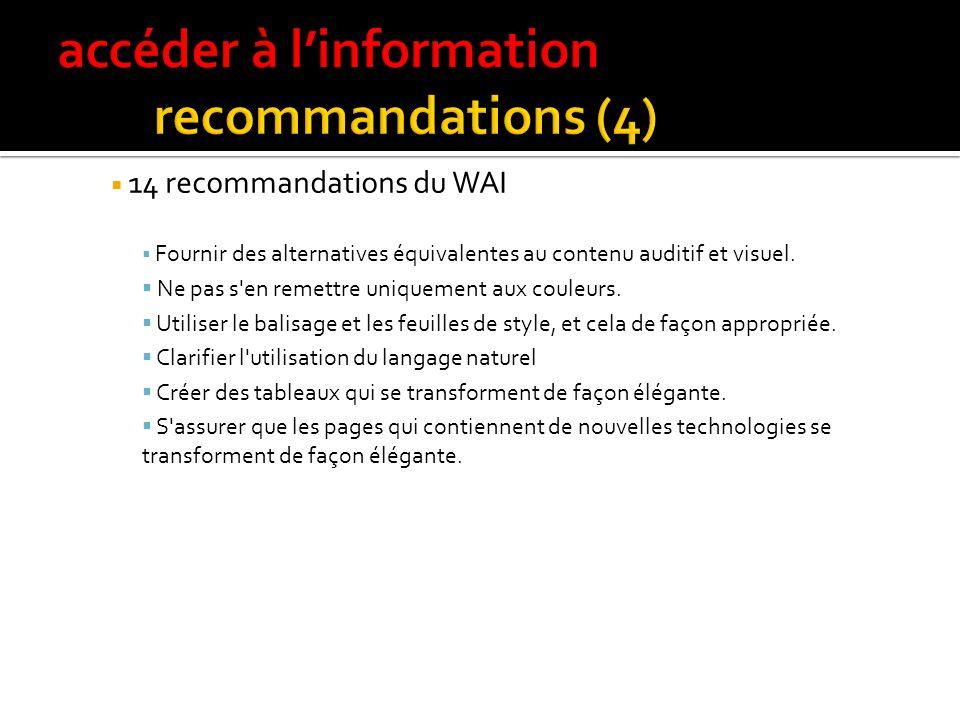 accéder à l'information recommandations (4)