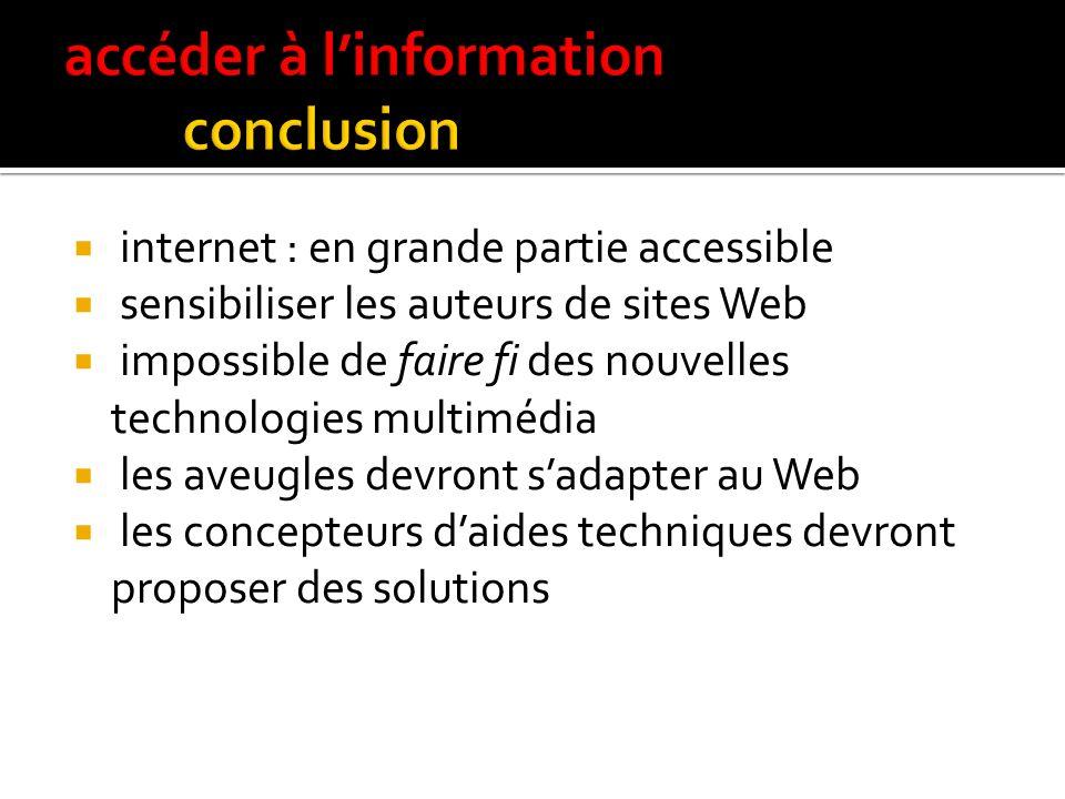 accéder à l'information conclusion