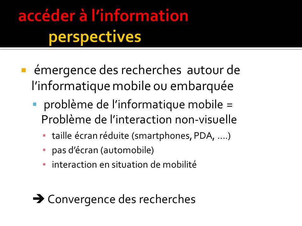 accéder à l'information perspectives