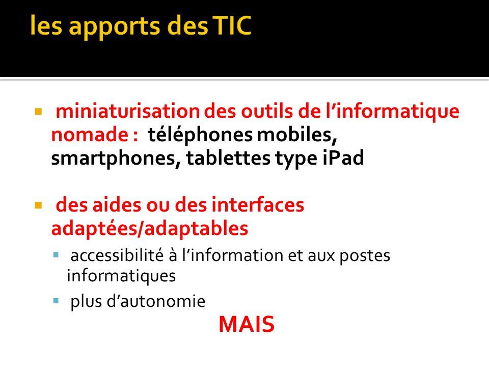 les apports des TIC MAIS