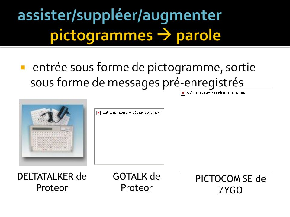 assister/suppléer/augmenter pictogrammes  parole