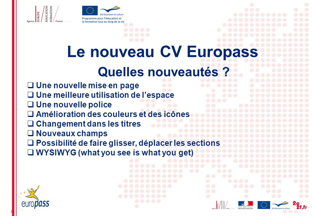les  u00e9volutions d u2019europass