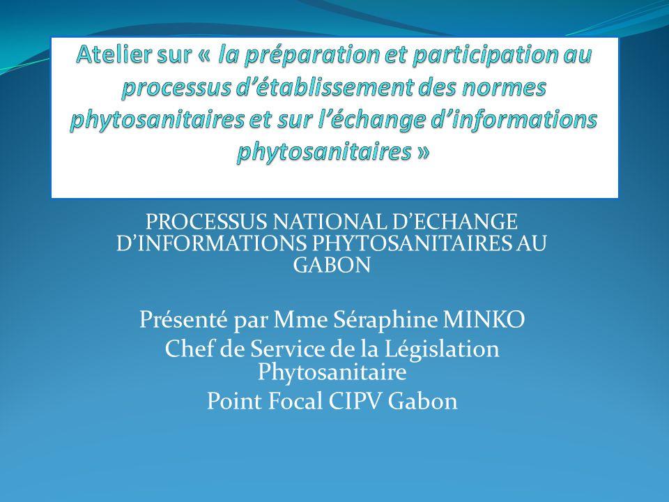 Atelier sur « la préparation et participation au processus d'établissement des normes phytosanitaires et sur l'échange d'informations phytosanitaires »
