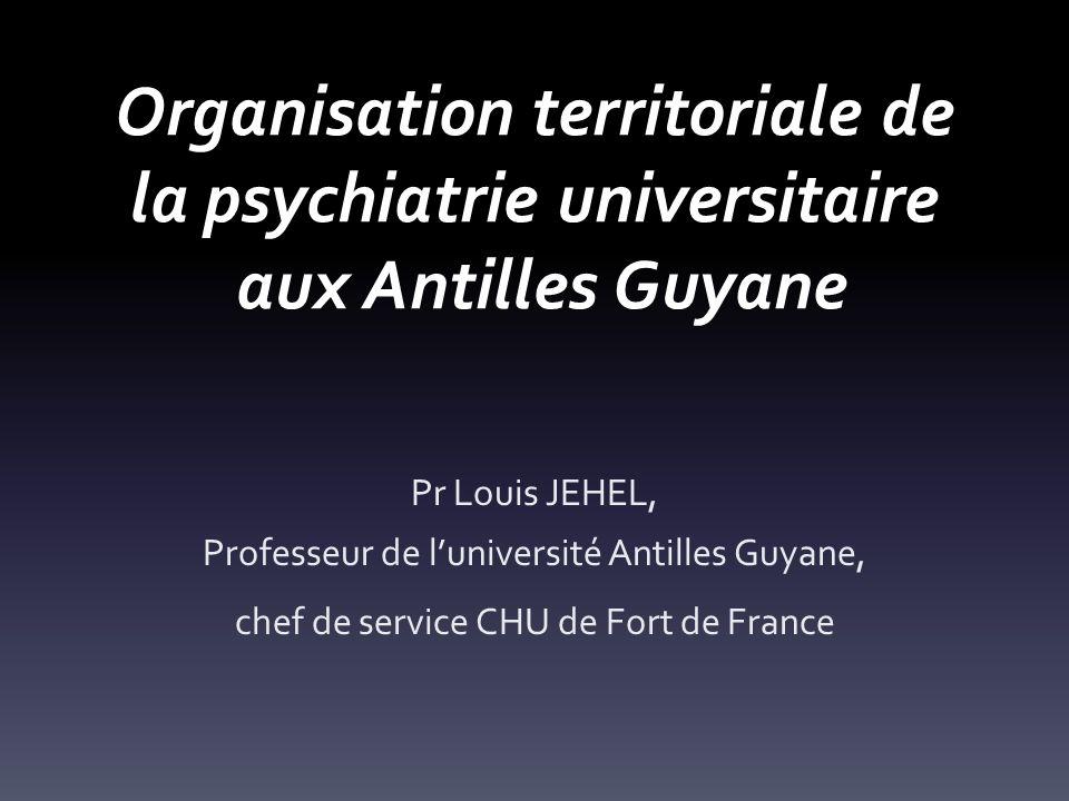 Organisation territoriale de la psychiatrie universitaire aux Antilles Guyane