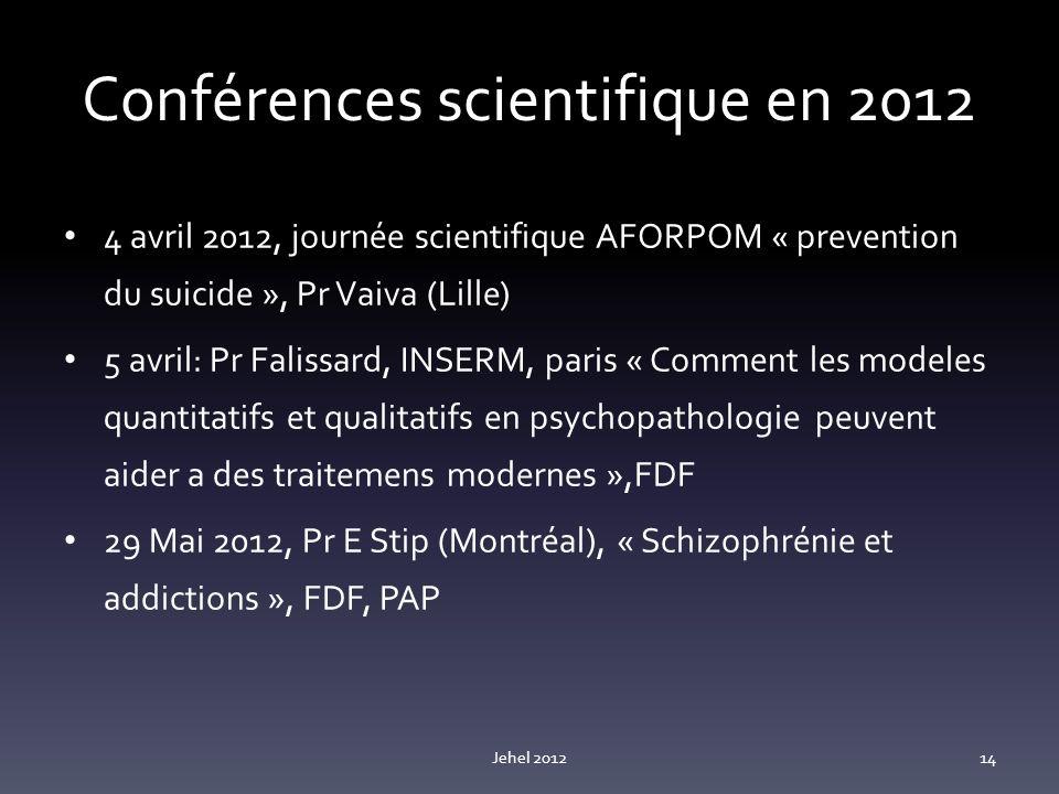 Conférences scientifique en 2012