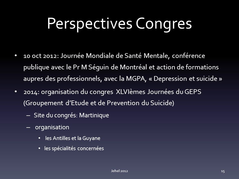 Perspectives Congres