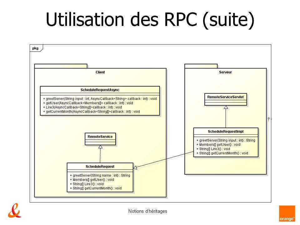 Utilisation des RPC (suite)