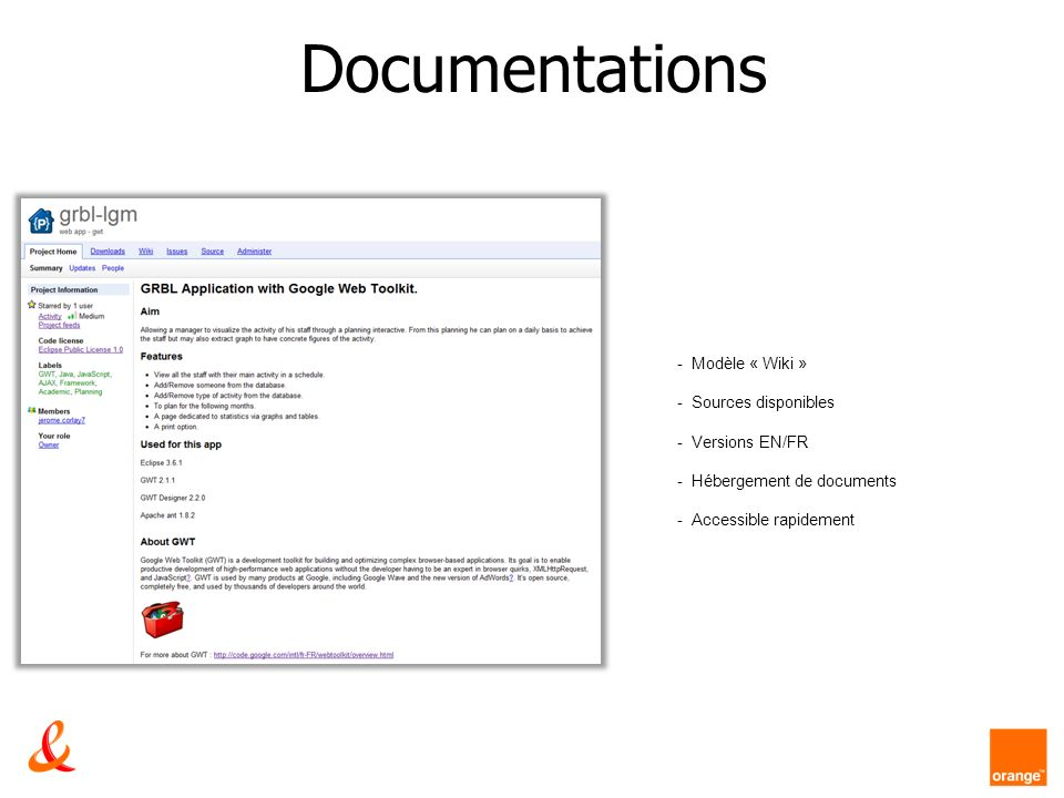 Documentations Modèle « Wiki » Sources disponibles Versions EN/FR