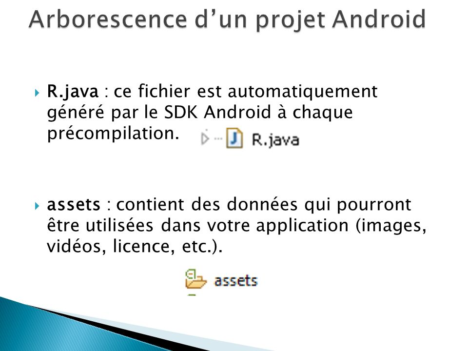 Arborescence d'un projet Android