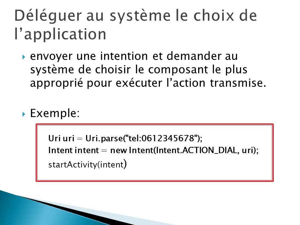 Déléguer au système le choix de l'application