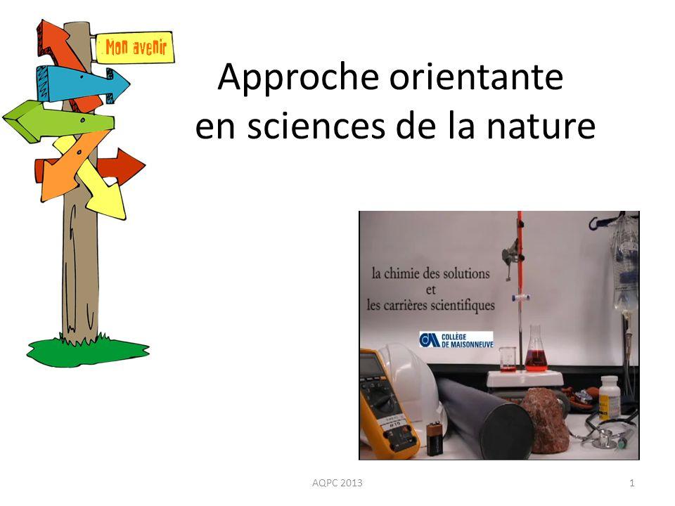 Approche orientante en sciences de la nature