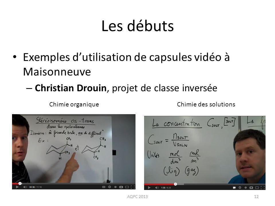 Les débuts Exemples d'utilisation de capsules vidéo à Maisonneuve