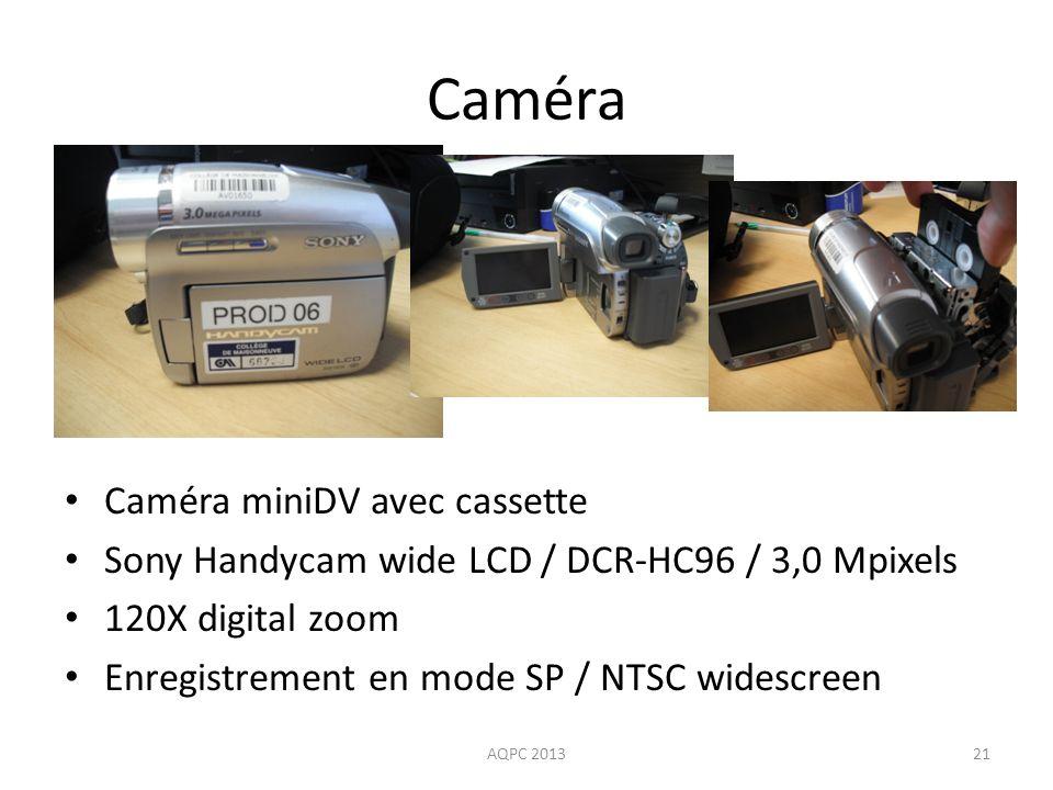 Caméra Caméra miniDV avec cassette