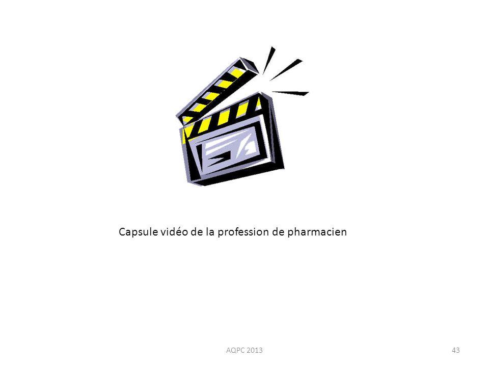 Capsule vidéo de la profession de pharmacien