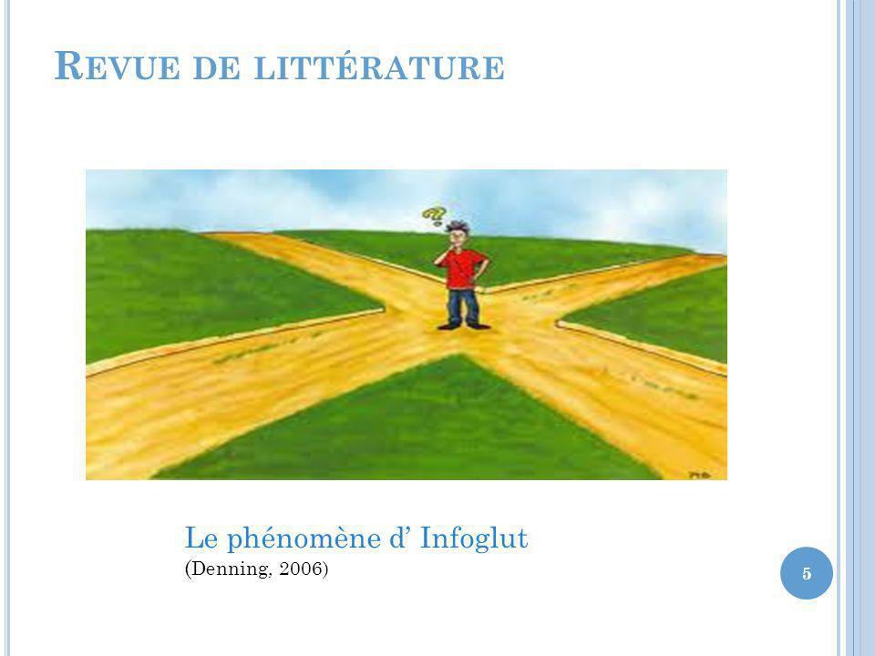 Revue de littérature Le phénomène d' Infoglut (Denning, 2006)