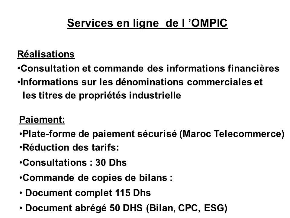 Services en ligne de l 'OMPIC