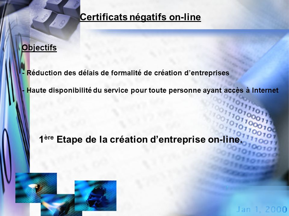 Certificats négatifs on-line
