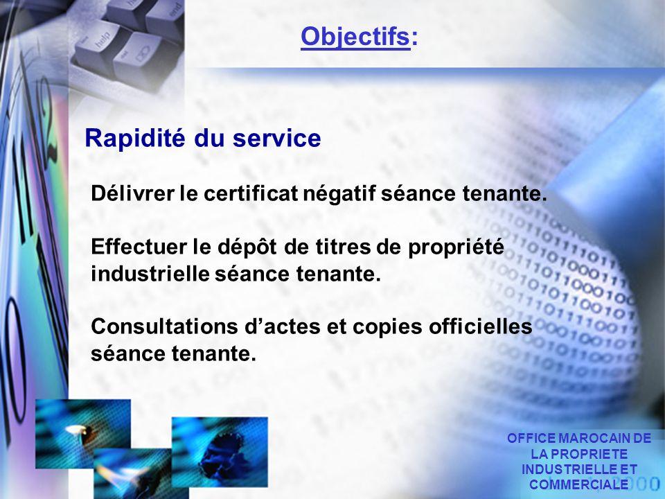 OFFICE MAROCAIN DE LA PROPRIETE INDUSTRIELLE ET COMMERCIALE