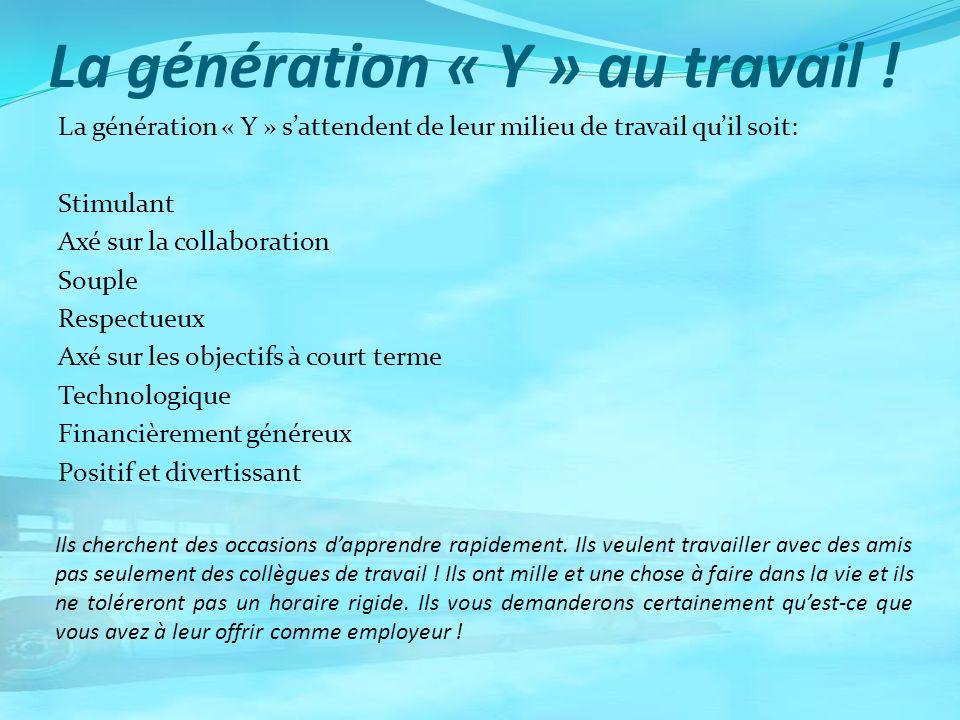 La génération « Y » au travail !