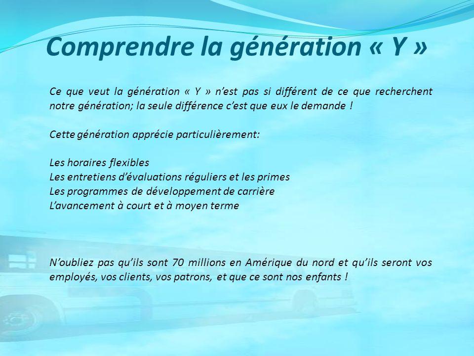 Comprendre la génération « Y »