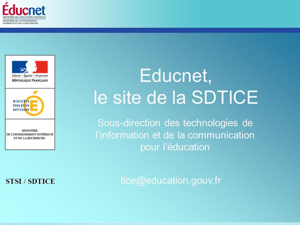 Educnet, le site de la SDTICE